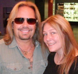 Vince Neil and Tina Saul